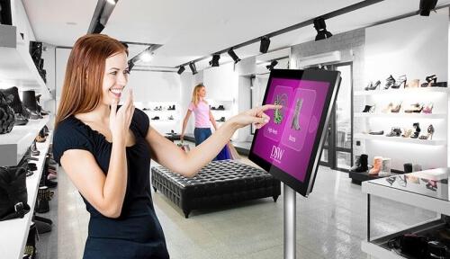 Tekniklagret pekskärm PCAP Dual OS Windows och Android detaljhandel butik